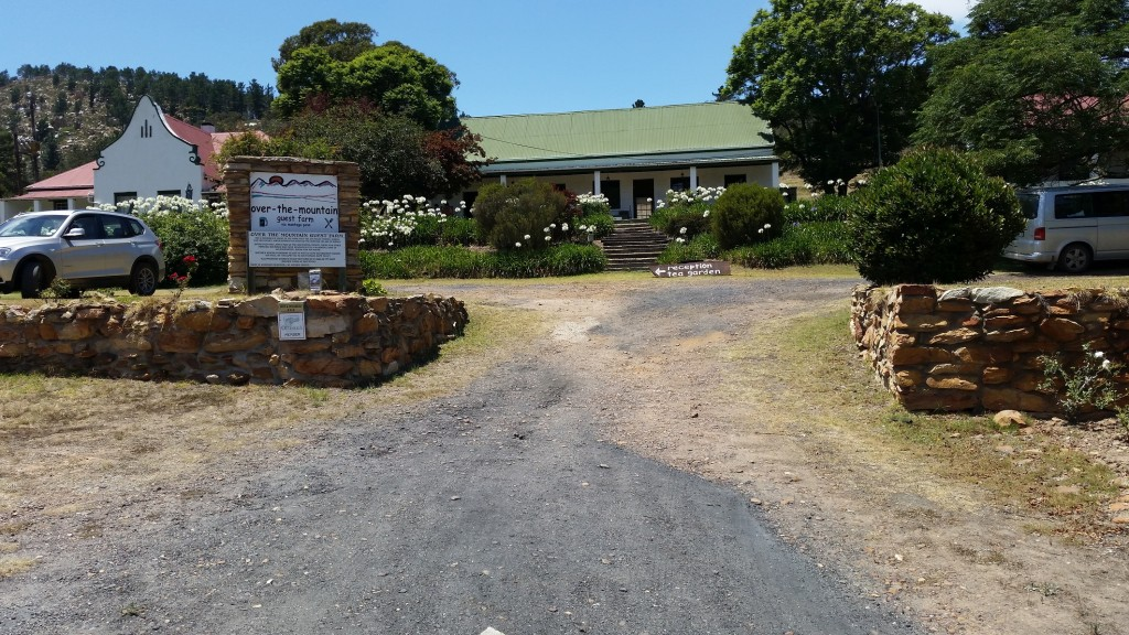 The entrance to  Over the Mountain Guest Farm