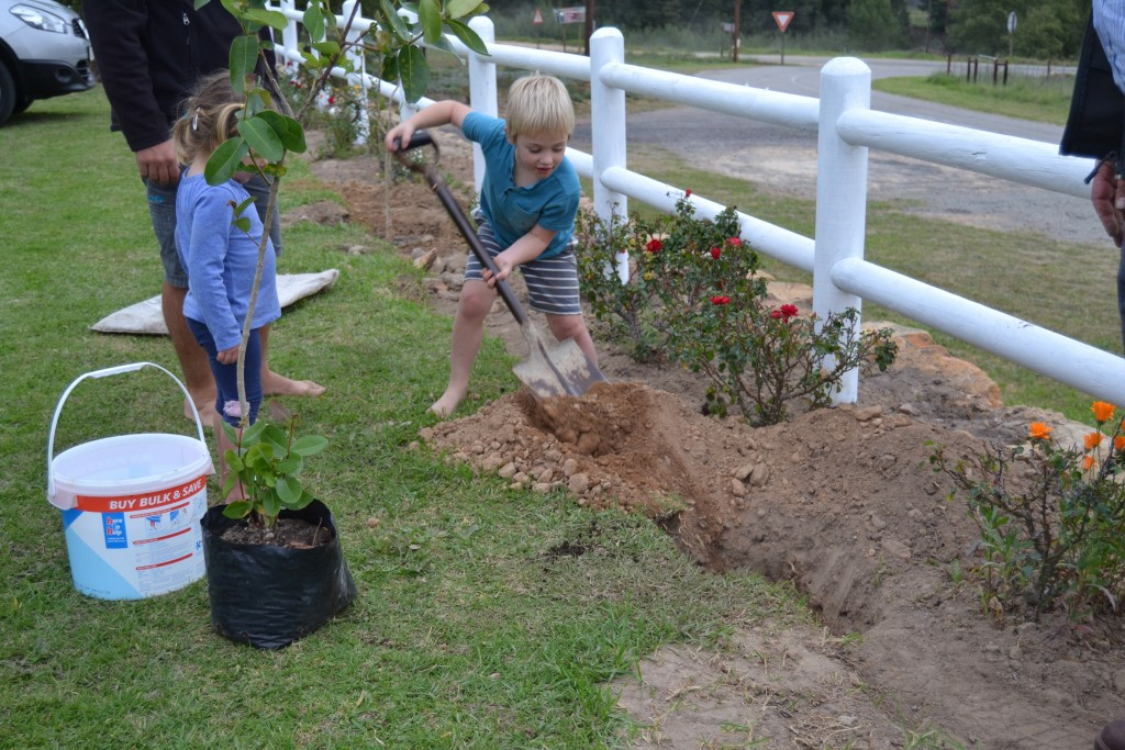 4 Year old Malan is very handy with a shovel